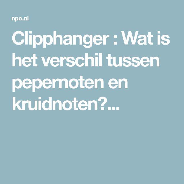 Clipphanger : Wat is het verschil tussen pepernoten en kruidnoten?...