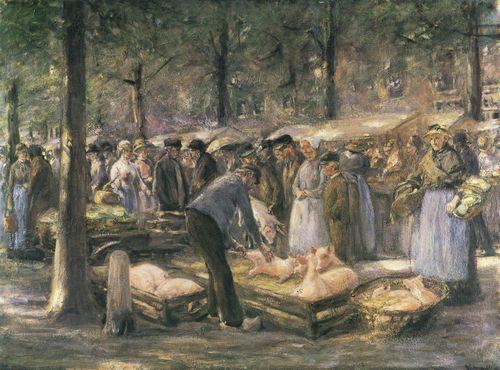 Liebermann, Max: Schweinemarkt in Haarlem