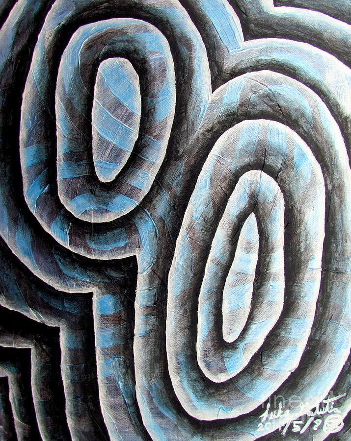 Glass Painting - Glass Waves 1 by Luke Galutia
