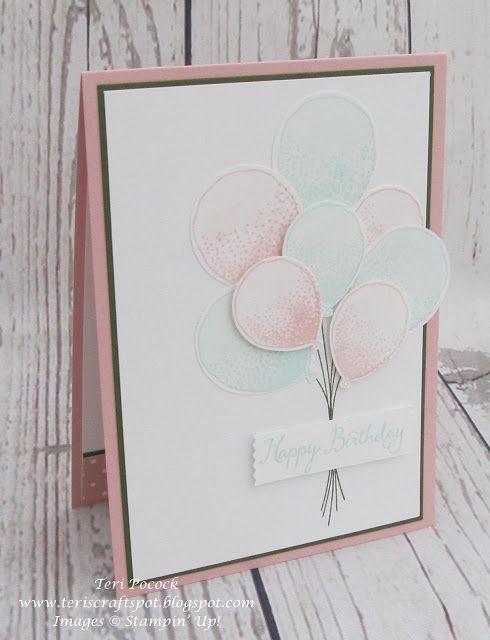 Stampin' Up! - Balloon Celebration - Birthday Card ....  Teri Pocock - http://teriscraftspot.blogspot.co.uk/2016/01/balloon-celebration-birthday-card.html