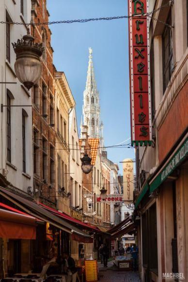 Una calle de Bruselas