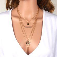 Clásicos accesorios de la cadena collar chapado en oro collar maxi collar de…