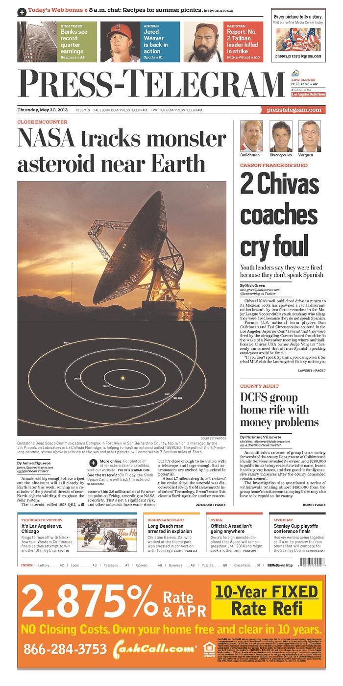 Press-Telegram, published in Long Beach, California USA