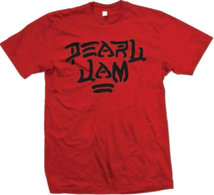 This men's Pearl Jam t-shirt spotlights the logo of the classic alternative rock band. Formed in Seattle, in 1990, Pearl Jam became one of the most famous bands to emerge from the Grunge scene and is currently one of the most respected bands in rock and roll history. To date, Pearl Jam has sold over 60 million albums, and in 2017, they were inducted into the Rock and Roll Hall of Fame. Our Pearl Jam logo tee is made from 100% regular fitting red cotton. #pearljam #bandtees #rockerrags