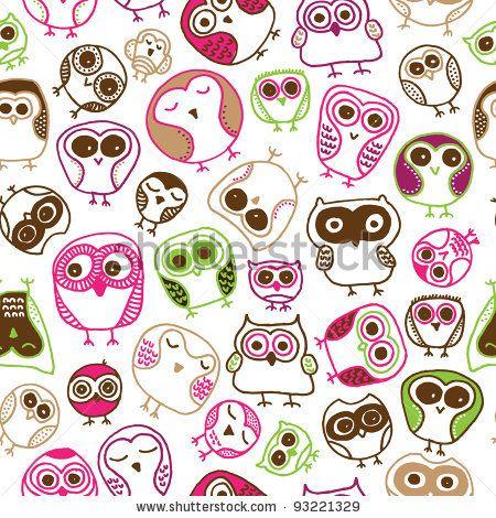 Cute Pink Owl Wallpaper For Iphone Owl Pattern Wallpaper Tumblr Www Pixshark Com Images