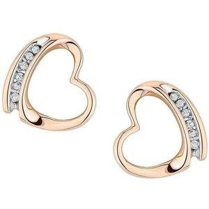 Reeds Diamond Heart Stud Earrings 1/20ctw #prom