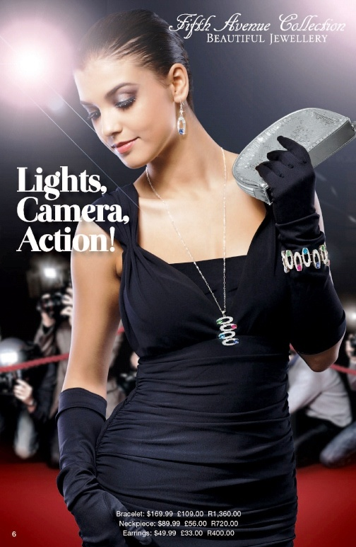 Click here to view 'Lights, Camera, Action' Set which will help you look Fabulous with any outfit! Order directly via www.fifthavenuecollection.com/yokafor. The 'Lights, Camera, Action' Set  (which includes the Neckpiece, Bracelet & Earrings) cost £198.00, so what are you waiting FOR: Repin & Keep Sparkling!