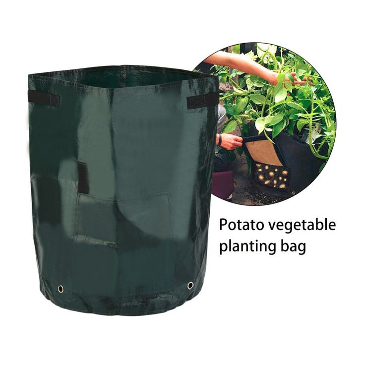 Free Shipping 50L Large Capacity Potato Grow Planter PE Container Bag Pouch Tomato Window Garden - Newchic