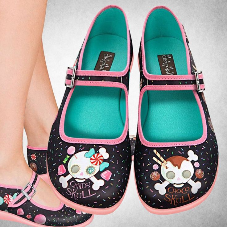 Hot Chocolate Design Chocolaticas Candy Skull Womens Mary Jane Flat  Multicoloured US Size 8 -- More info could be found at the image url.