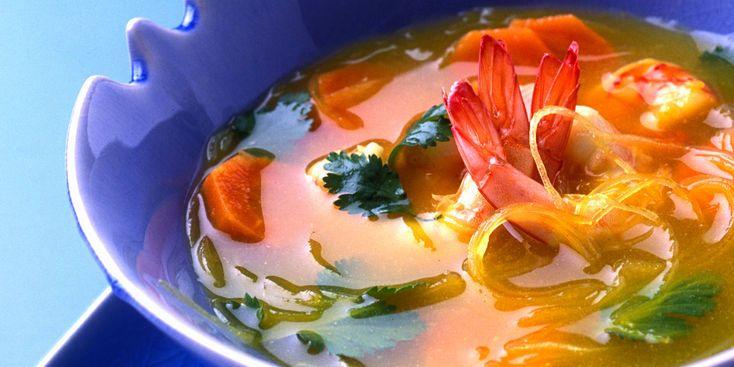 Soupe chinoise aux crevettes