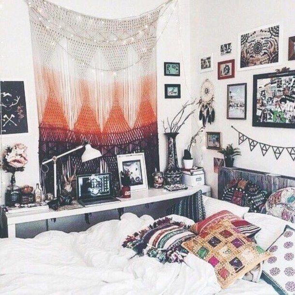 Unique Diy Hipster Room Decor Ideas Dorm Rooms White Indie Bedroom
