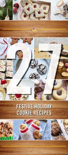 27 Holiday Cookie Recipes! We're counting down to the holiday with recipe and menu ideas. Check it out here: https://www.pinterest.com/giantfood/12-days-of-delicious/