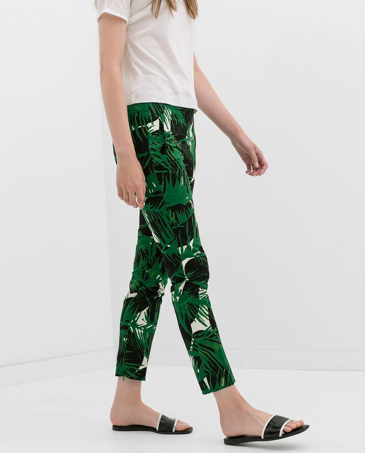 ZARA - NEW THIS WEEK - CROPPED DOUBLE CLOTH TROUSERS