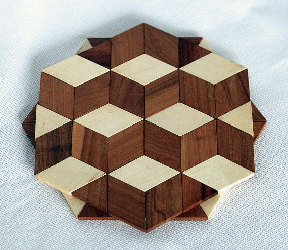 Stand for hot Heat protection pad Wood mat by GalychWoodWorks