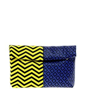 ASOS Print Clash Roll Top Clutch