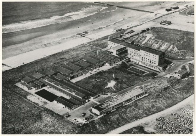 1980, Kijkduin en Ockenburgh, Hoek van Hollandlaan met het Zeehospitium