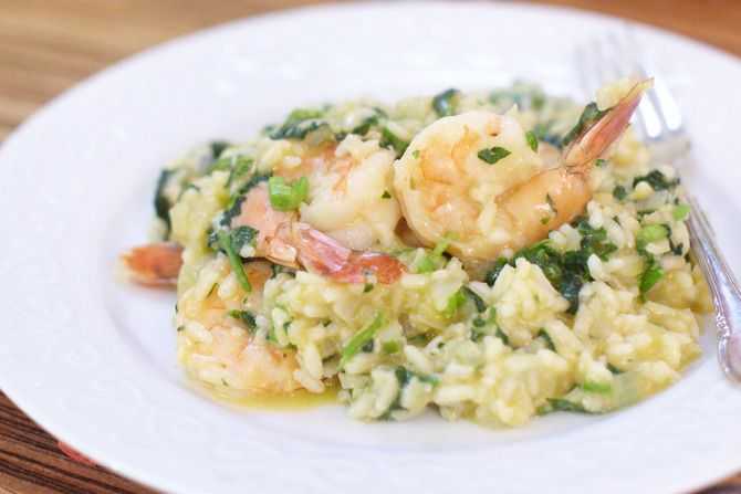 Shrimp Risotto with Watercress. Visit http://www.blueapron.com/ to ...