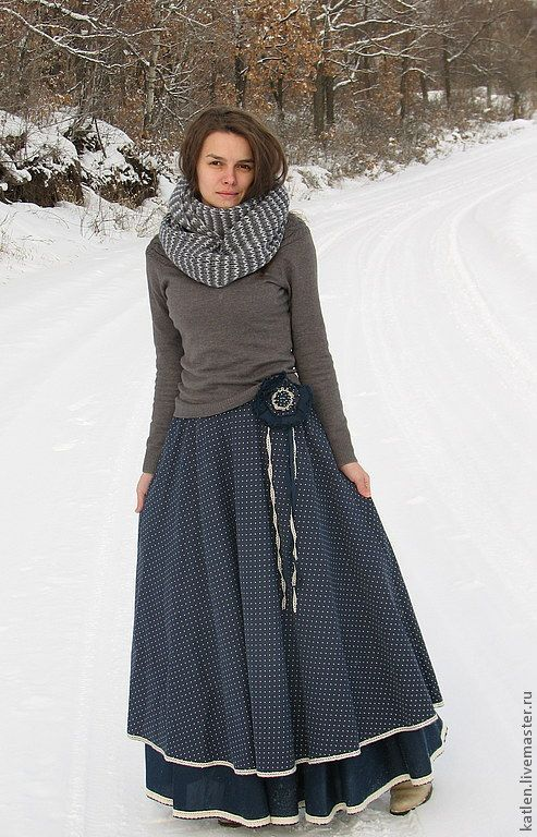 Long, full skirt – two-ply or maybe a petticoat, a simple one