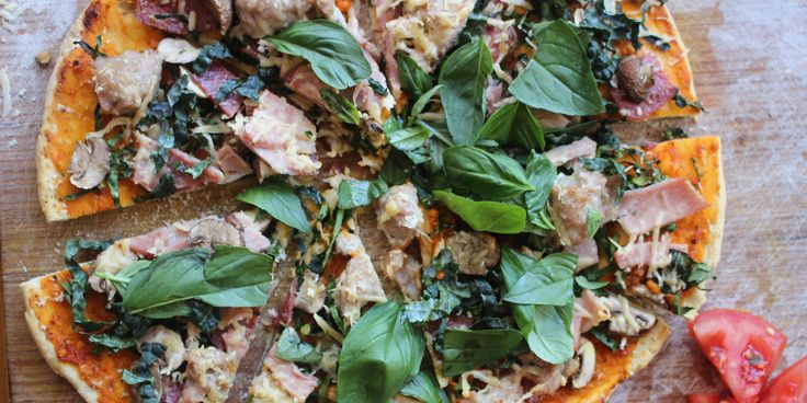 Healthy Meat Lover's Pizza via @iquitsugar