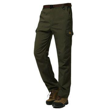 Men's Outdoor Mountaineering Pants Uphill Walks Waterproof Windproof Warm Breathable Trousers at Banggood