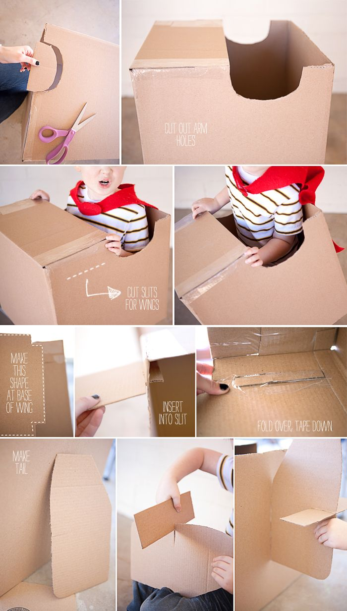 how to make a cardboard wing