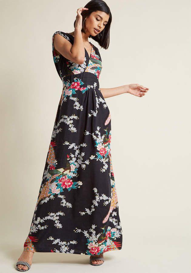 0c1431b00b53 Brand House Fashion - Ruby Rocks Feeling Serene Maxi Dress  hue neck short