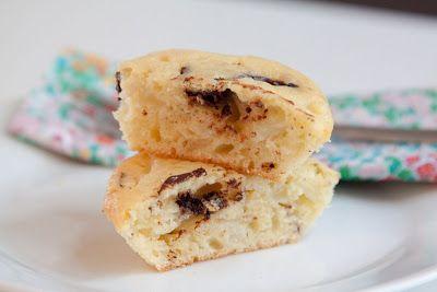 Eple- og sjokolademuffins