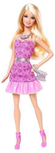 Barbie Fashionista Party Glam Barbie Doll Pink Strapless Dress