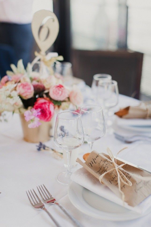 13 Creative Wedding Menu Ideas That Arent Chalkboards via Brit + Co