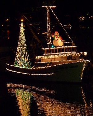The annual lighted boat parade in Gig Harbor, Washington ... photo by Jim Nelson / Gig Harbor Life