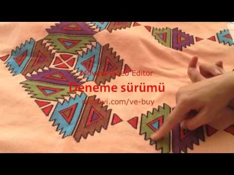 Yeni başlayanlar için kanaviçe seccade yapımı (etamin) - YouTube