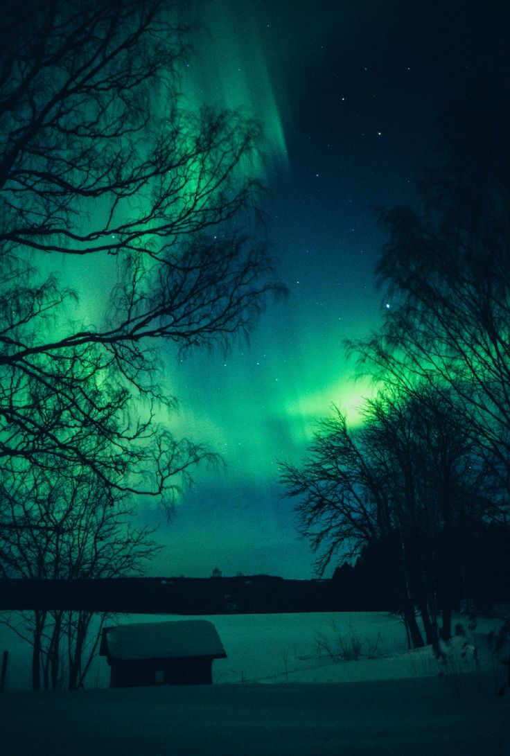Snuggle up under the aurora borealis.  ©Frozenmost/Getty Images/iStockphoto.