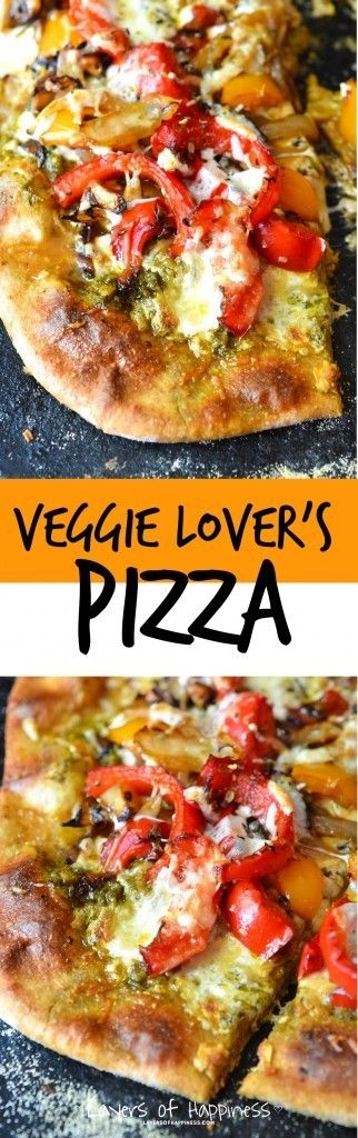 Homemade Whole Wheat Veggie Lover's Pizza