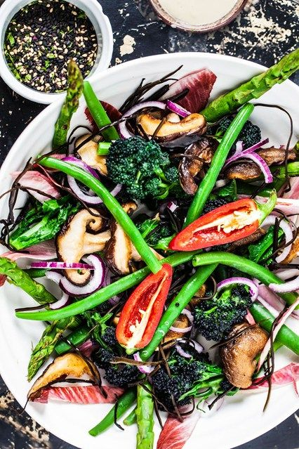 Hemsley & Hemsley: Superfood Salad With Miso Tahini Dressing (Vogue.com UK)