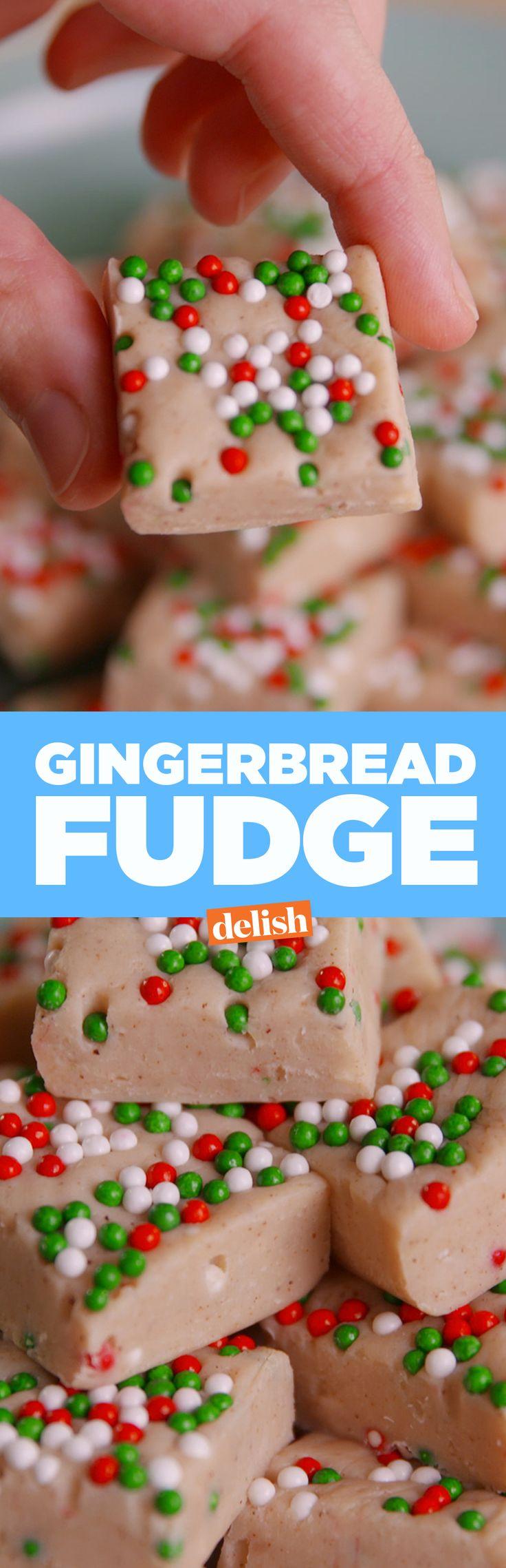 This gingerbread fudge tastes like Christmas. Get the recipe on Delish.com.