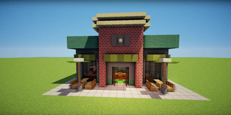 Minecraft Starbucks | minecraft house | Minecraft ...