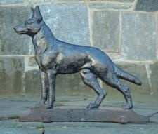 antiques & vintage price guide of Antique Cast Iron German Shepherd dog door stop
