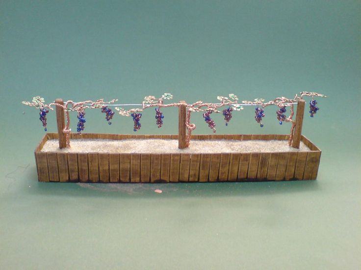 Bonsai Wire Tree Sculpture Beaded Vineyard by sinisaart. Awesome addition to my Fairy Garden.