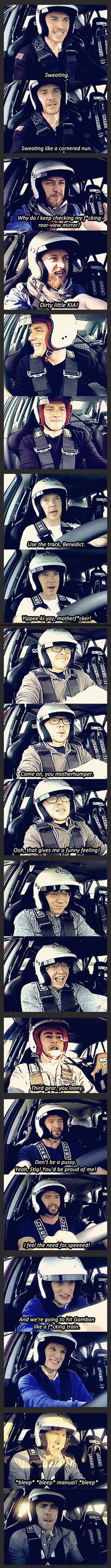 Top Gear brings out the best in celebrities :)