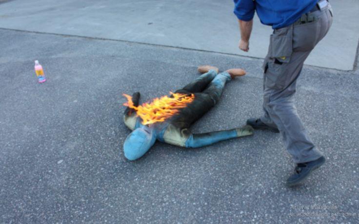 Dummy para prácticas de extinción   #dummy #fuego #simulación #percha #maniqui #maxpreven
