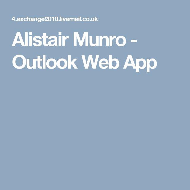 Alistair Munro - Outlook Web App
