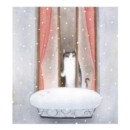 littleg:  Cecil and the Joys of Winter par Bojana Dimitrovski sur Behance