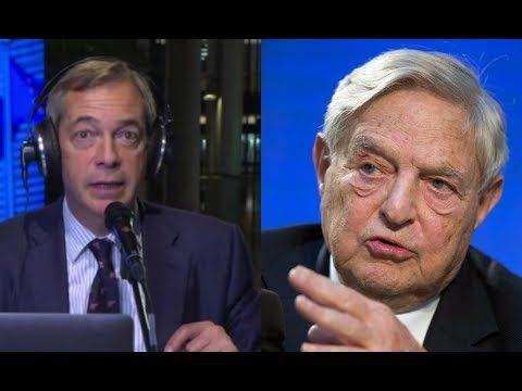 George Soros Puppet CONFRONTS Nigel Farage, Gets OBLITERATED - YouTube