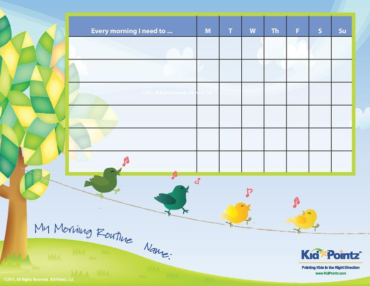 Kids+Daily+Routine+Chart+Printable