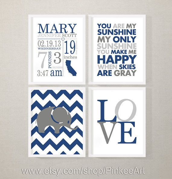 personalized baby stats, new baby nursery decor sunshine print and love, baby announcement, birth art print, new baby gift, baby birth print by PinkeeArt, $29.00