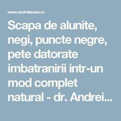 Scapa de alunite, negi, puncte negre, pete datorapete imbatranirete imbatranirii intr-un mod complet natural - dr. Andrei Laslău