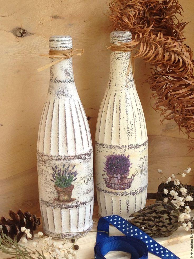 Купить или заказать Бутылка Романтический Прованс в интернет-магазине на Ярмарке Мастеров. Бутылка может быть использована для оливкового, растительного масла, либо как элемент интерьера в стиле Прованс. Цена указана за 1 шт. Для получения новинок моего магазина, нажмите кнопочку на панельке слева 'Добавить в круг' Спасибо заглянувшим в мой…
