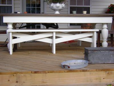 DIY Deck Table   Iu0027m Head Over Heels In Love With This
