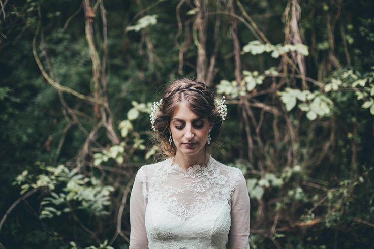 DEEP INTO THE FOREST / Nora Sarman Bridal / Kriszta is wearing a custom made Nora Sarman wedding gown / photo Pinewood Weddings