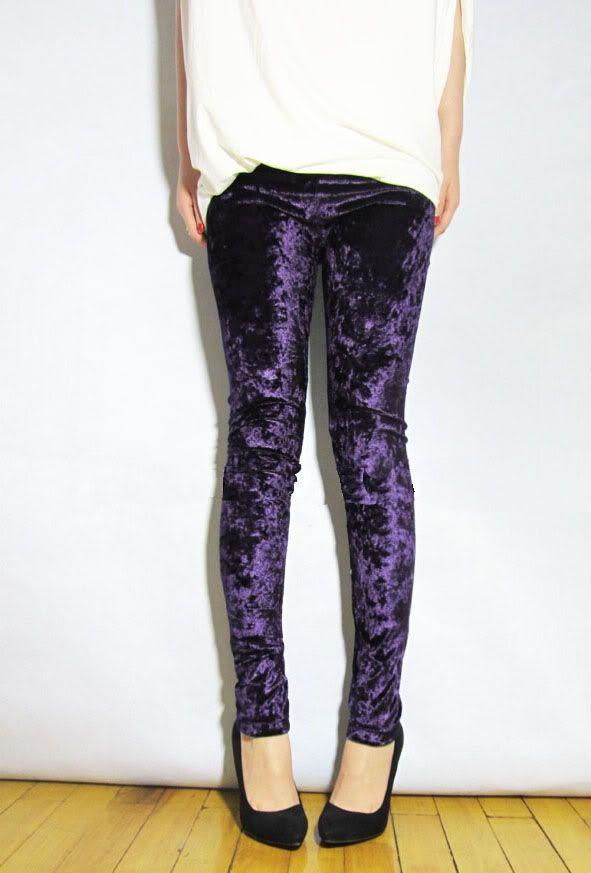 velvet leggings | ... Celebrity Women Velvet Leggings Slim Fit Soft Stretchy Pants Tights